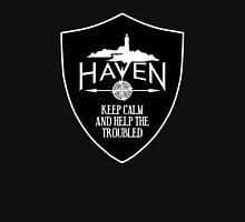 Haven Keep Calm Black Badge Logo Unisex T-Shirt