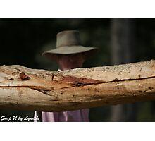 Through the Fence Rails - Queensland Farm Photographic Print