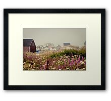 PURPLE HAZE- Peggy's Cove, Nova Scotia Framed Print