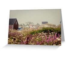 PURPLE HAZE- Peggy's Cove, Nova Scotia Greeting Card