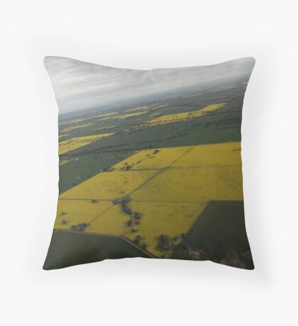 Canola Patchwork  Throw Pillow