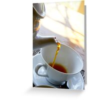 Tea pouring Greeting Card