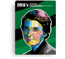 DNA's Greatest gift, ROSALIND FRANKLIN Canvas Print