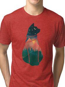 World Cat - cutout Tri-blend T-Shirt