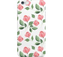 Romantic flowers. Hand drawn floral pattern. Seamless 2 iPhone Case/Skin