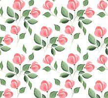 Romantic flowers. Hand drawn floral pattern. Seamless 2 by Gribanessa