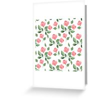 Romantic flowers. Hand drawn floral pattern. Seamless 2 Greeting Card
