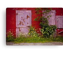 THE PURPLE DOOR- Nova Scotia, Canada Canvas Print