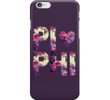 Pi Phi Sorority University College Print Floral iPhone Case/Skin