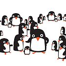 Many penguins by Tristan Klein