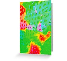 Colorful Abstract Watercolor Painting Background Greeting Card