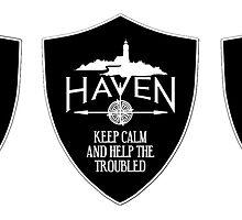 Haven Keep Calm Black Badge Logo 2 by HavenDesign