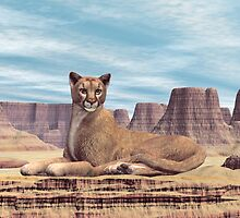 Desert Canyon Cougar by Walter Colvin