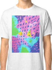 Purple Abstract Watercolor Painting Classic T-Shirt