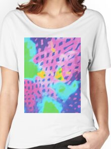 Purple Abstract Watercolor Painting Women's Relaxed Fit T-Shirt