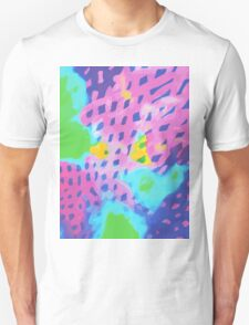 Purple Abstract Watercolor Painting T-Shirt