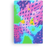 Purple Abstract Watercolor Painting Canvas Print
