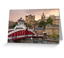 Swing Bridge and Castle Keep, Newcastle, Tyne and Wear Greeting Card