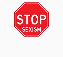 Stop Sexism Feminist T Shirt Womens Fitted T-Shirt