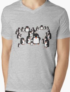 Penguin Group Mens V-Neck T-Shirt
