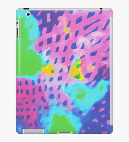 Purple Abstract Watercolor Painting iPad Case/Skin