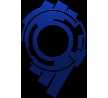 ghost in the shell blue stand alone complex 2nd gig anime manga shirt Photographic Print