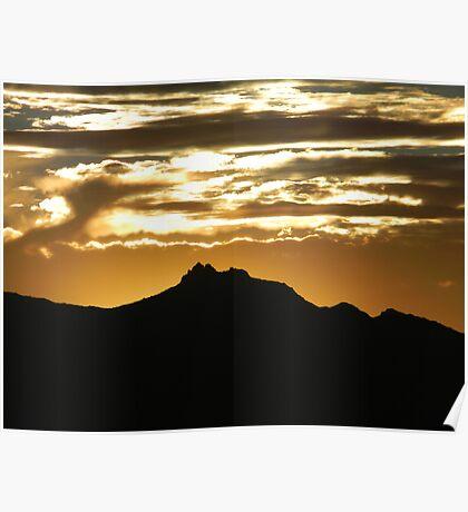 Sunset Over Estrella  Poster