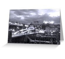 Swing Bridge Skyline, Newcastle upon Tyne Greeting Card