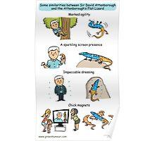 Attenborough and the Attenborough's Flat Lizard Poster
