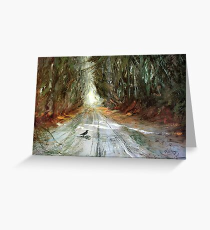 Forest Track Scavenger Greeting Card