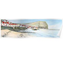 Staithes Panorama Poster