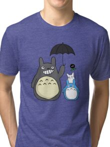 Totoro family Tri-blend T-Shirt