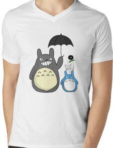 Totoro family Mens V-Neck T-Shirt