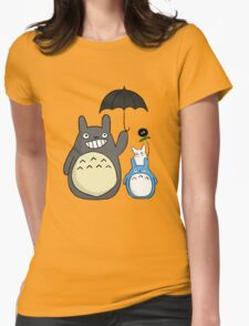 Totoro family Womens Fitted T-Shirt