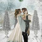 Under The Mistletoe by Angelgold Art