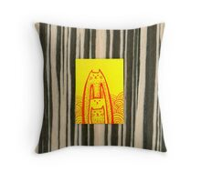 Rabbit Cat 3 Throw Pillow