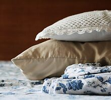 Morning Piles- sheets and pillows by homemadeinchina