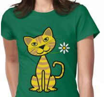 The Yellow Cat Womens Fitted T-Shirt