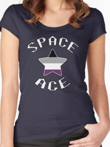 Asexual Star [Space Ace Version] Women's Fitted Scoop T-Shirt
