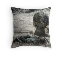 Some Rocks and a Bit of Barbed Wire - Mk II Throw Pillow