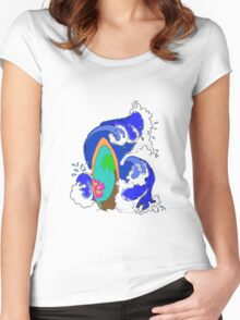 Surf Wave Women's Fitted Scoop T-Shirt