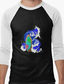 Surf Wave Men's Baseball ¾ T-Shirt