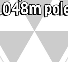 I wouldn't touch the metric system with a 3.048m pole! Sticker