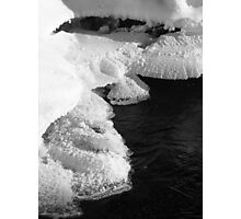 The First Ice ... Photographic Print