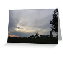 Farm at Dusk Greeting Card