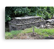Resting Place  -  Old Tomb, Kerry, Ireland Canvas Print