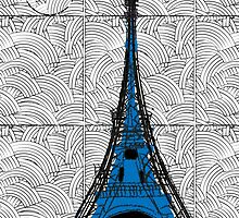 Eiffel Tower Blue Swing   by CecelyBloom