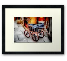 Antique Dolls' Pram Framed Print