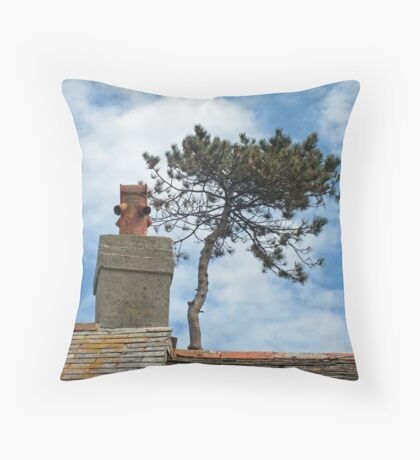 Tree Top and Chimney Pot Throw Pillow