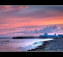 Sunset, South Parade Pier by gypsymatt21